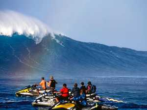 Coast surfer's mission to parachute to monster 30m wave