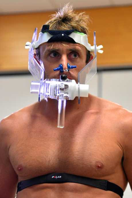 MARK Visser's professional approach to fitness has seem him undertake gruelling testing with the experts at the University of the Sunshine Coast.