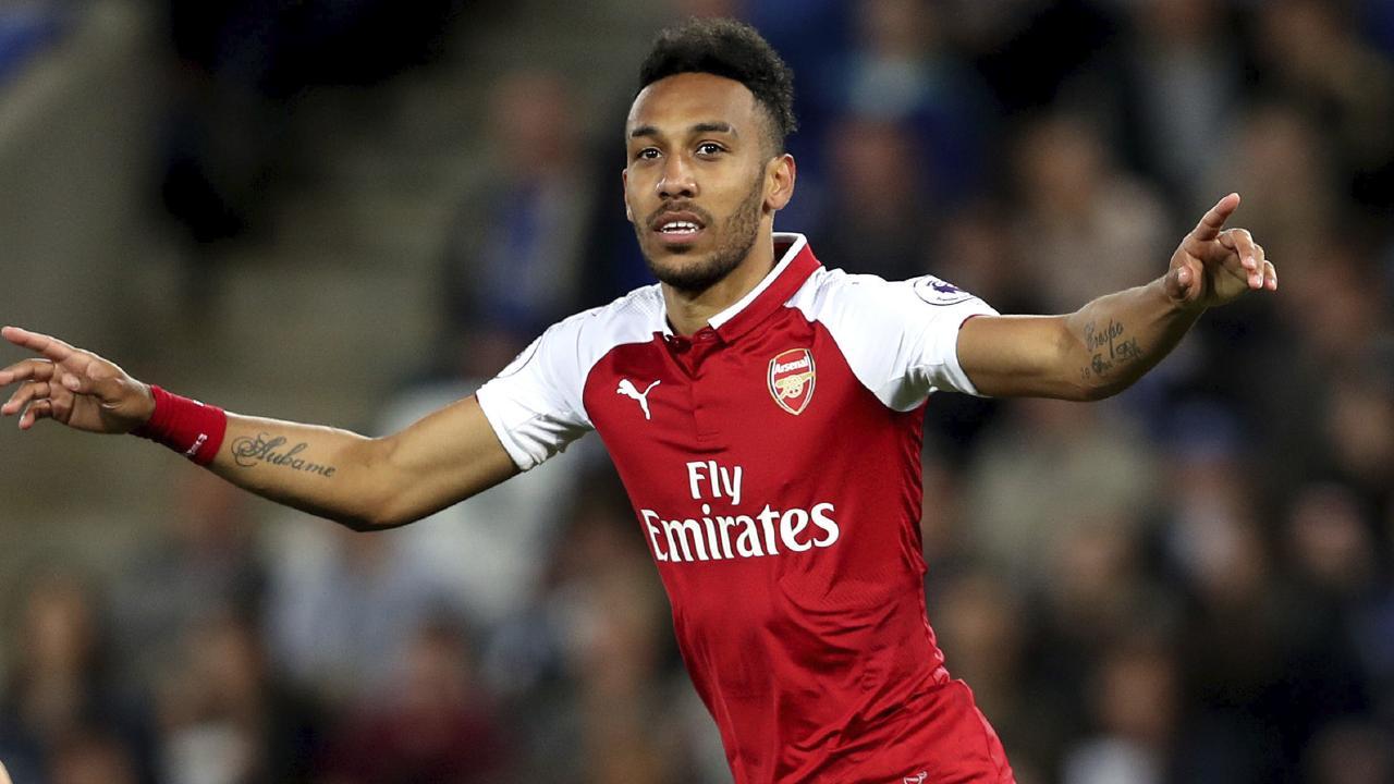 Arsenal's Pierre-Emerick Aubameyang.