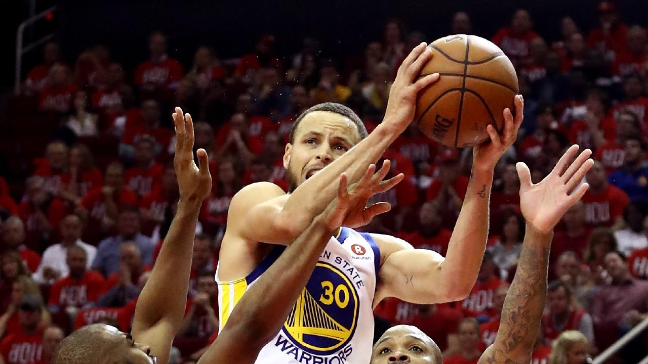 Stephen Curry misfired from three in games one and two. (Photo by Ronald Martinez/Getty Images)