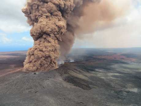 Danger from the Kilauea volcano has not passed. Picture: USGS/MEGA
