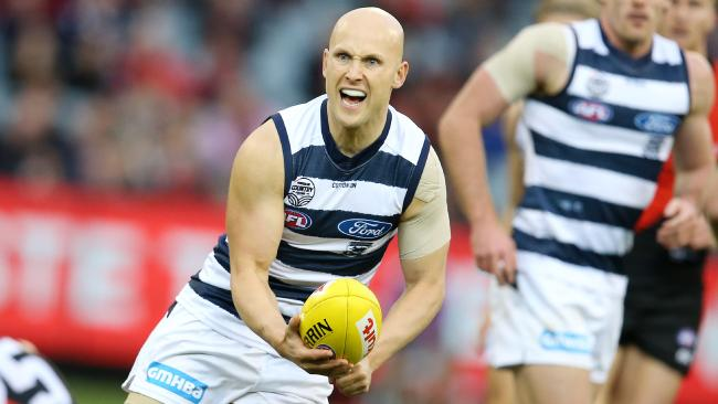 Gary Ablett in action against Essendon. Picture: Michael Klein