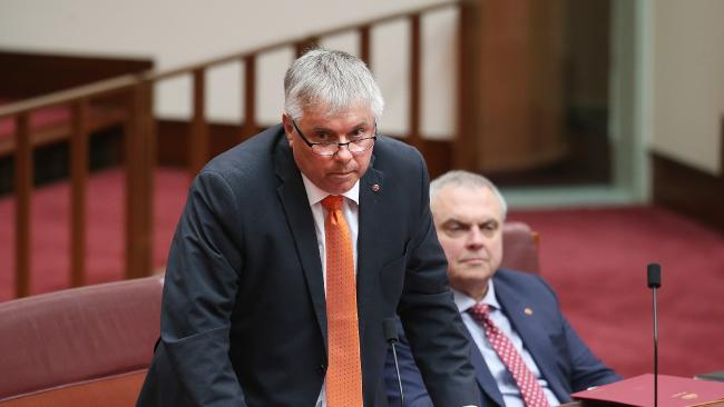 Centre Alliance senators Rex Patrick and Stirling Griff have indicated they could support the Prime Minister's corporate tax rate cuts if a proposed tax on digital giants rakes in enough for budget repair. Picture: Kym Smith Key independent remains unconvinced by company tax cuts