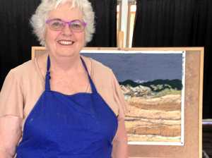 Artists returns back to her roots during exhibition