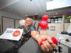 How much blood?! Mackay man reaches milestone 300th donation