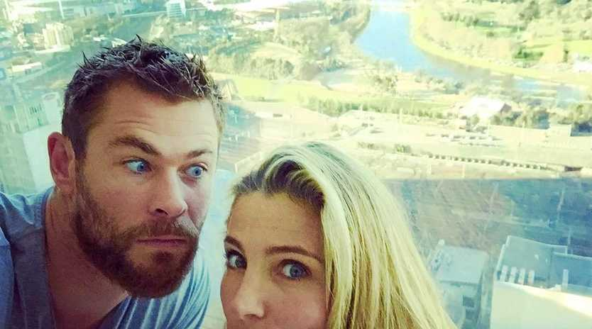 Chris Hemsworth and Elsa Pataky. Picture: Chris Hemsworth/Instagram