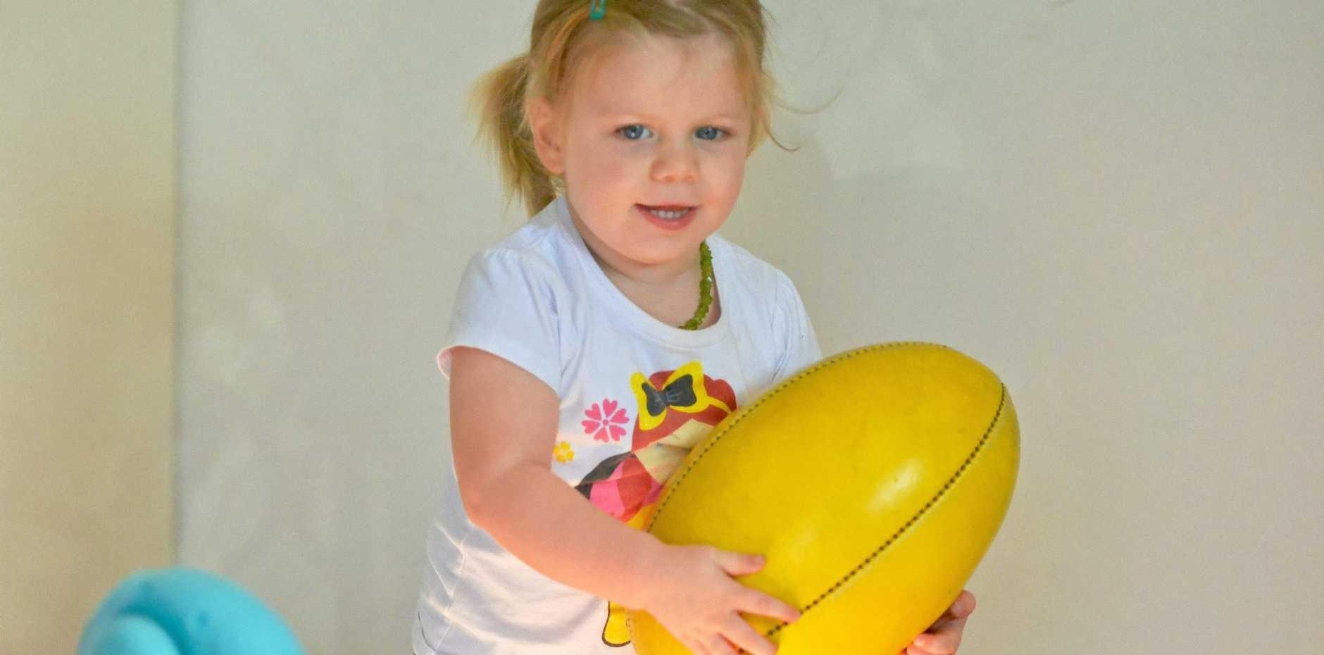 CANCER SURVIVOR: Bella Bates will enjoy her third birthday soon.