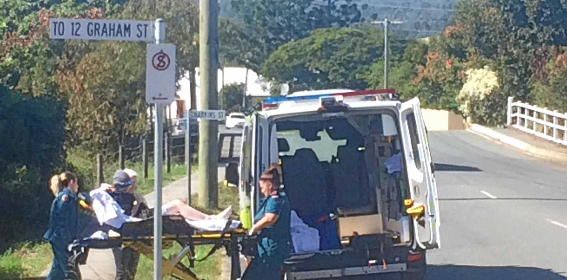 The woman was taken to Gympie Hospital .
