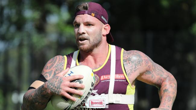 James Hooper reveals the Broncos' Bellamy bombshell Josh McGuire. The Brisbane Broncos training at Red Hill. Pic Peter Wallis