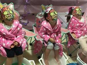 Mums throw 'pamper day' for girls' party