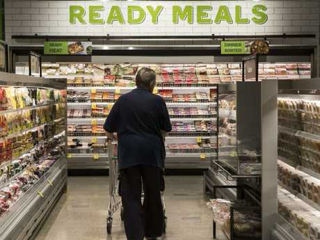 Woolworths' latest flagship store format has an emphasis on fresh food, convenience meals and organic produce. Picture: Hollie Adams/The Australian