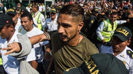 Peru captain Paolo Guerrero in Lima a day after his increased ban was announced.