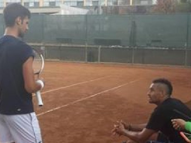 Nick Kyrgios Instagram picture with Novak Djkovic while in Rome