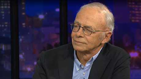 Philosopher Peter Singer was a guest on Monday night's Q&A panel.