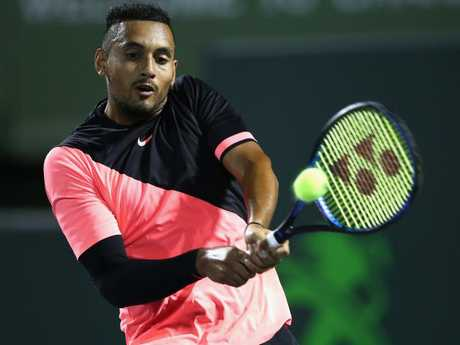 Nick Kyrgios has been struggling with an elbow injury for the last six weeks
