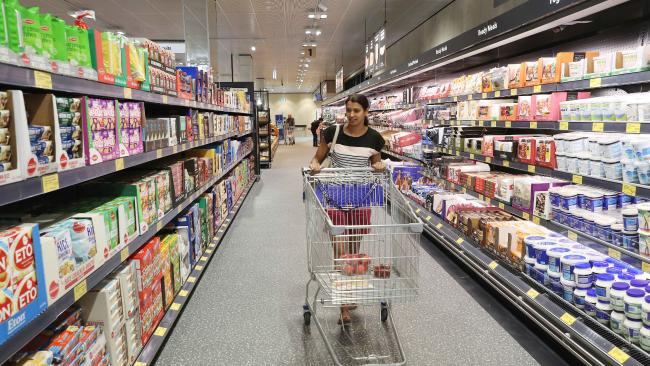 Tracy Mendonca at Aldi, North Kellyville, enjoying its Grand Opening last year. Picture: David Swift/AAP Adelaide's new look supermarkets