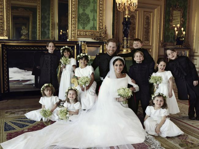 Meghan and Harry's official wedding photos. Picture: Alexi Lubomirski/Kensington Palace via AP