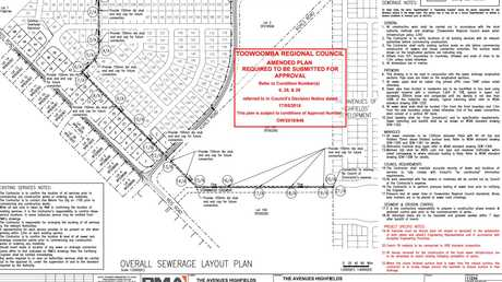 Plans for sewer line to Avenues of Highfields, approved by the TRC.