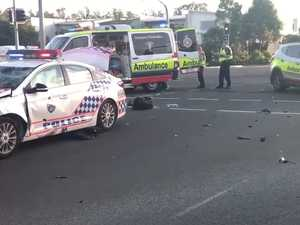 Man hospitalised after crash