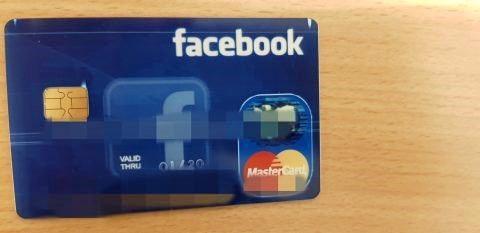 Fake Facebook credit card