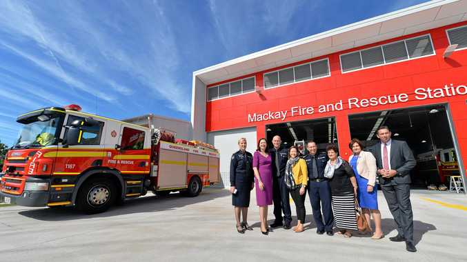 Official opening of the new Mackay Fire Station by Premier Annastacia Palaszczuk.