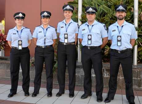 Rockhampton's newest police recruits Constable Morgan Lyons, Constable Dianna Sovacki, Constable Alison Marsh, Constable Matthew Daniel  and Constable Wian Schwartz.