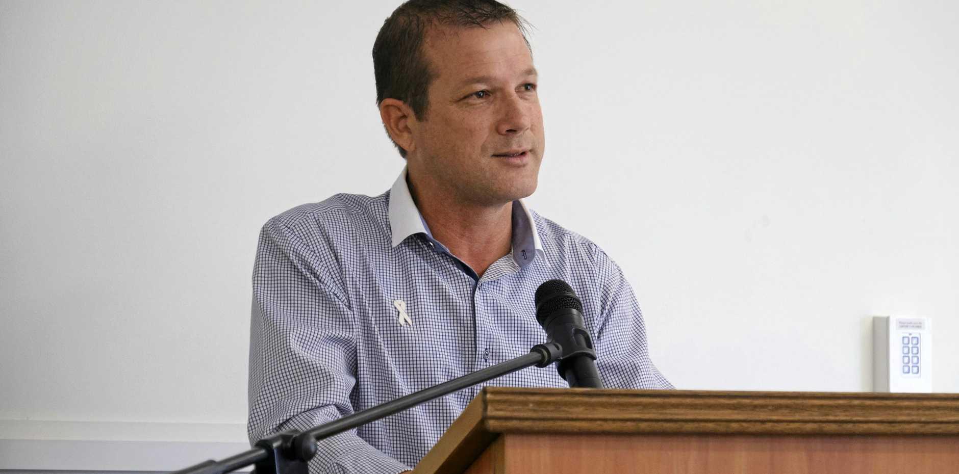 State Member for Bundaberg David Batt.