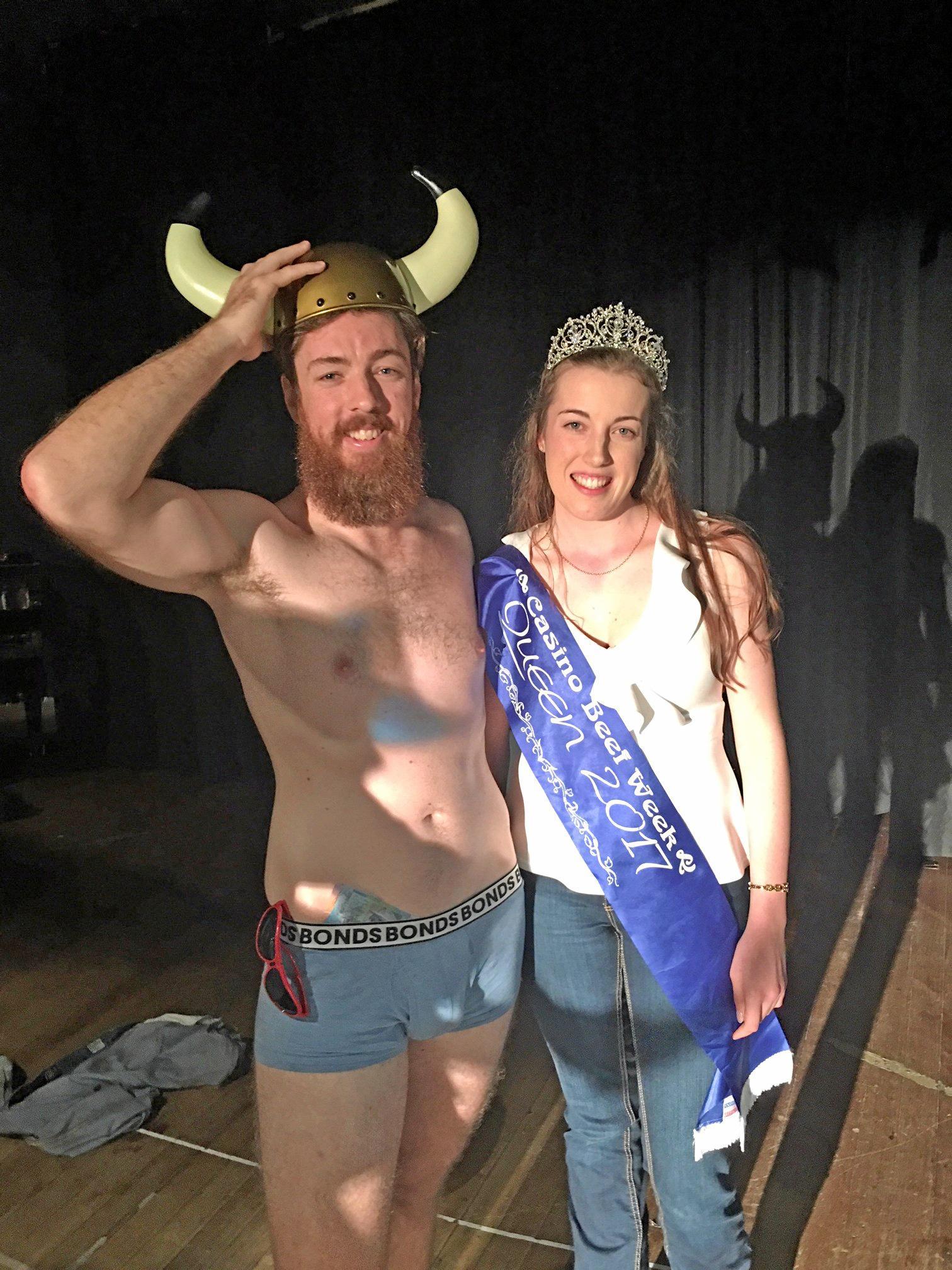 Mr Beef 2017 Andrew Nolan with Beef Week Queen Ashleigh Little.
