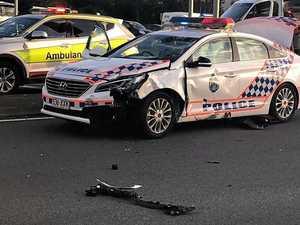 REVEALED: Crime behind cop car and motorbike crash