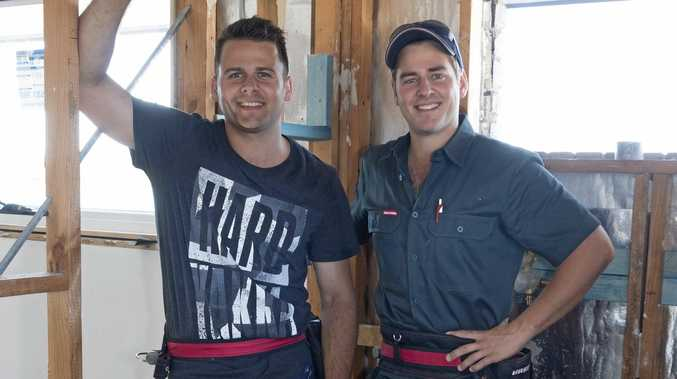 DREAM RENOVATION: In just a few days we'll get to find out how House Rules contestants transformed Josh and Brandon Jarius' Maryborough home. Inset: Proud mum Sue Jarius.