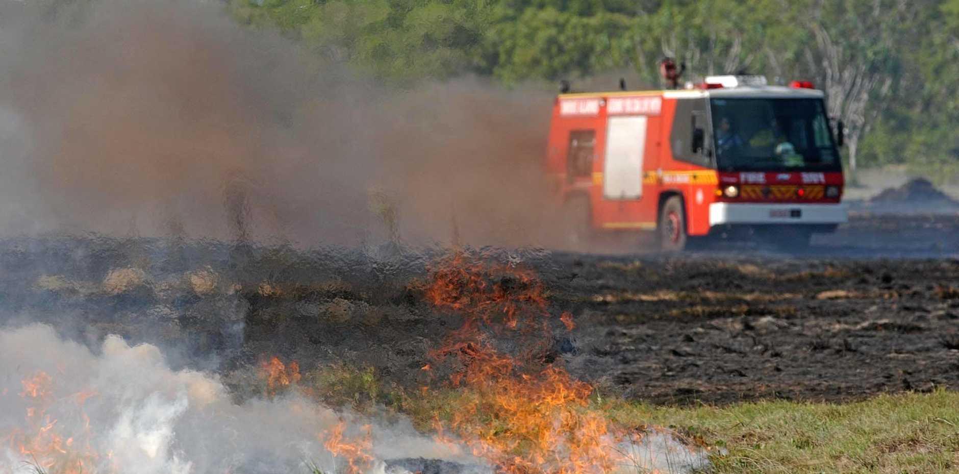 Grass fire at Gayndah.