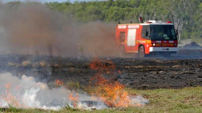 Summer is gone, but dry land keeps bushfire threat alive