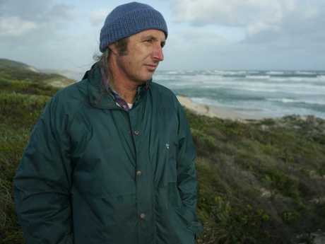Tim Winton says he hears some of the worst examples of the way boys and young men speak when he's out surfing.