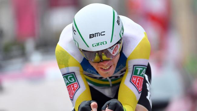 Rohan Dennis on his way to time trial success.