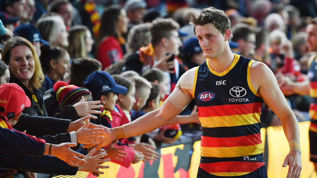 Matt Crouch is favoured to lead the Crows this weekend. (Picture: David Mariuz/AAP)