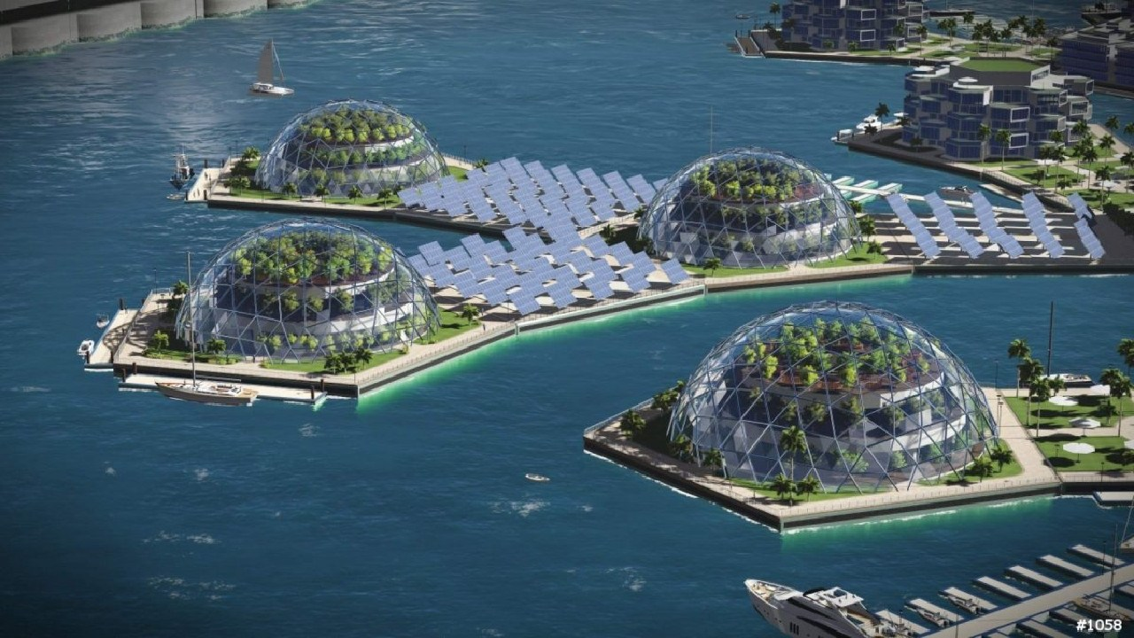 Would you consider living on a floating island in the ocean? Supplied: Seasteading Institute