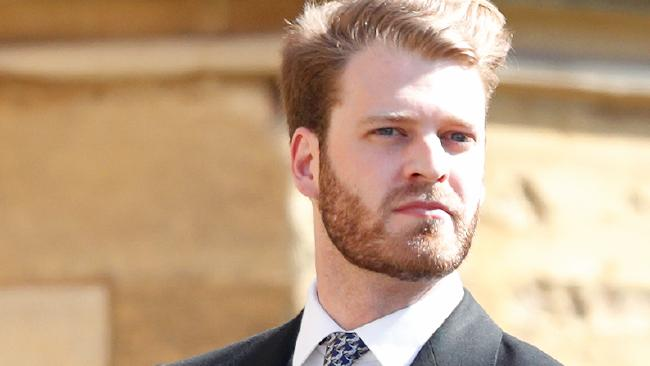 Louis Spencer, Viscount Althorp at the wedding of Prince Harry to Meghan Markle at St George's Chapel, Windsor Castle. Picture: Getty Images Duke and Duchess of Sussex make debut as married couple