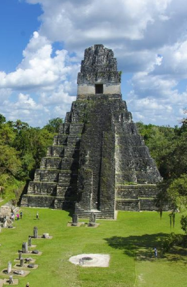 One of the prominent Maya temples at Tikal. This theme, established in the first Star Wars movie, endures.