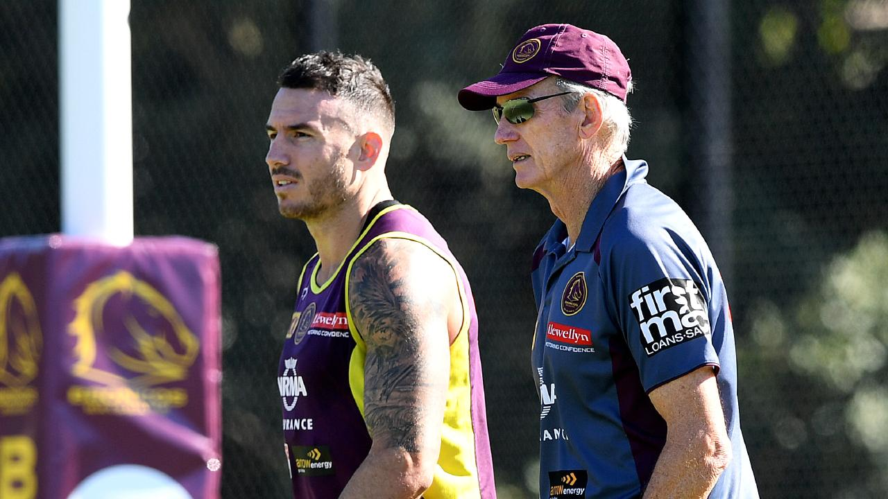 Wayne Bennett with Broncos captain Darius Boyd.