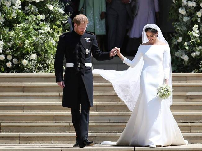 "James Corden said Harry and Meghan's wedding was ""Britain at its finest"". Picture: Givenchy/MEGA"