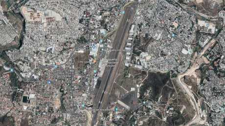 Toncontin Airport in Tegucigalpa, Honduras has a dangerously short runway. Picture: Google Maps.