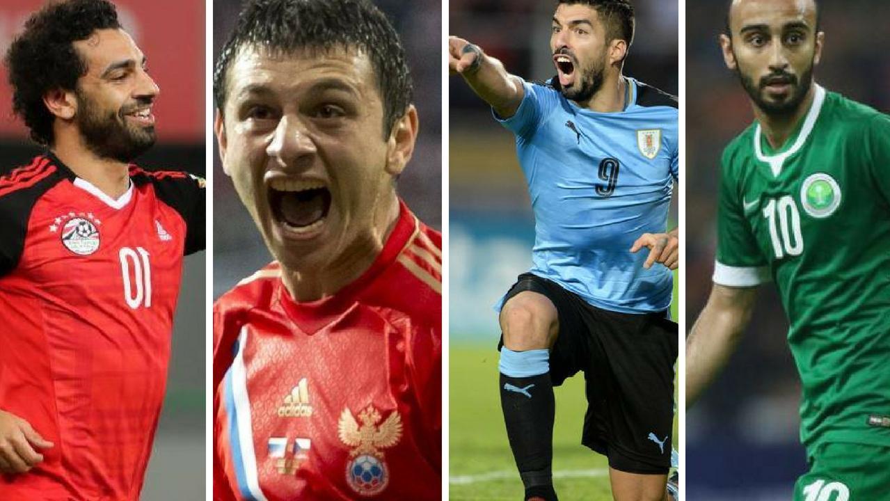 Mo Salah, Alan Dzagoev, Luiz Suarez and Mohammad Al-Sahlawi.