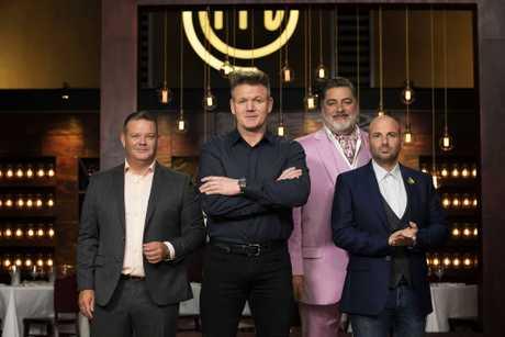 Gordon Ramsay with MasterChef Australia judges Gary Mehigan, Matt Preston and George Calombaris.