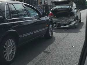 CBD gridlocked following three-car crash on bridge