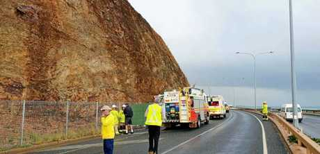 Crews are on scene in Yeppoon where a man fell from a cliff.