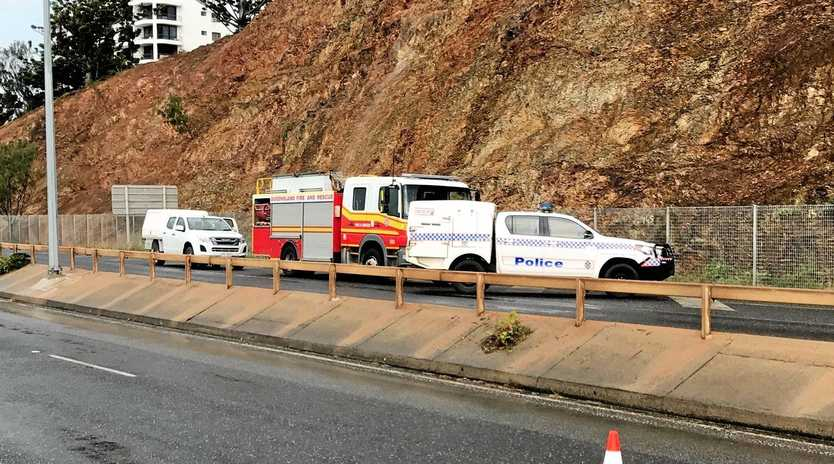 Emergency crews are on scene at Farnborough Rd where a man fell from a cliff this morning.