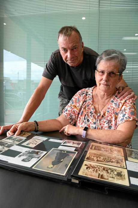 LOOKING FOR DAD: Husband Les Watson supports his wife Linda Watson, who is searching for her father.