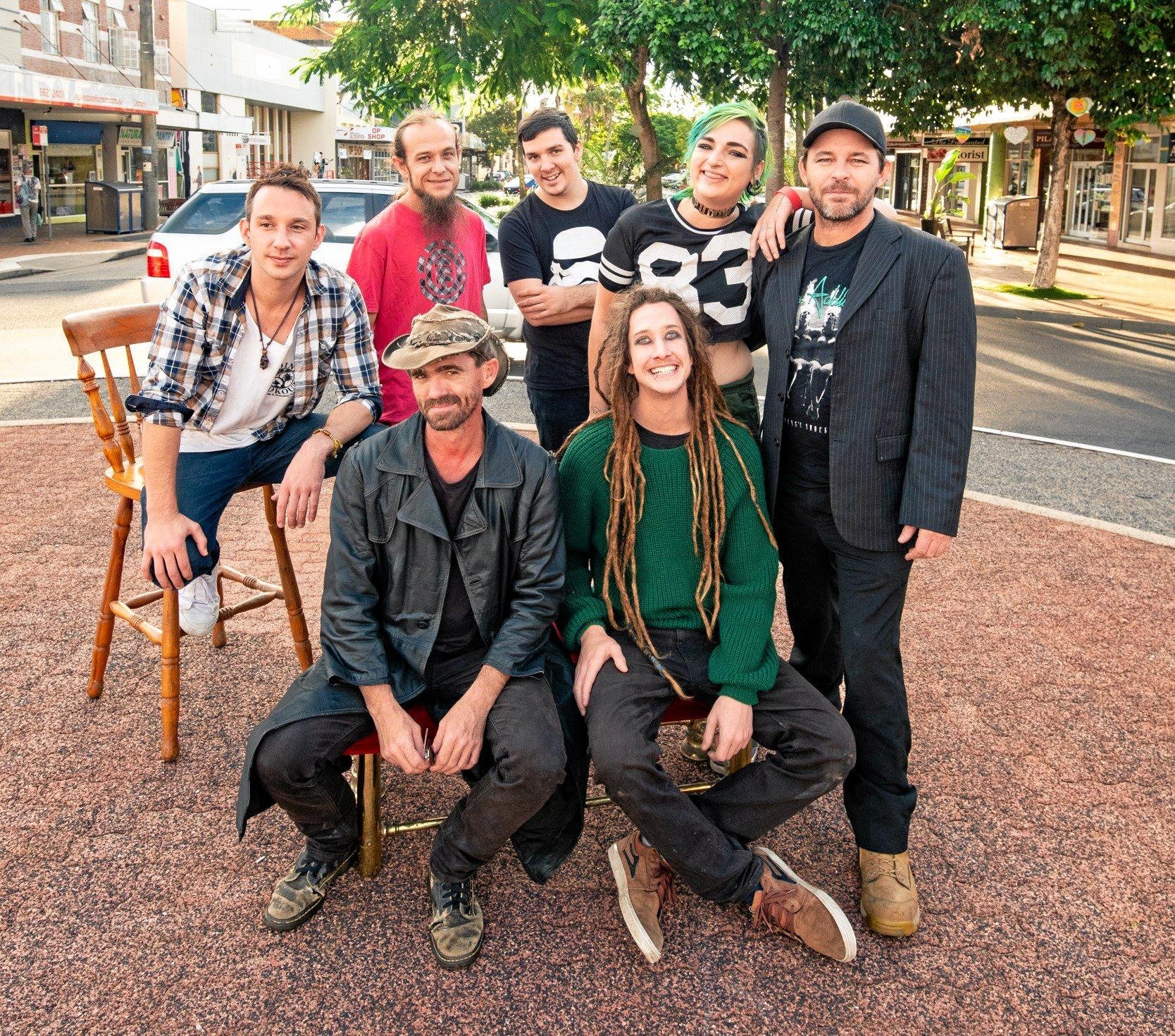 TROUPE: The Humans of Lismore are a comedy rock band.