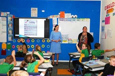 Queensland Premier Annastacia Palaszczuk at the Proserpine State  School's Under 8s Day on Thursday.
