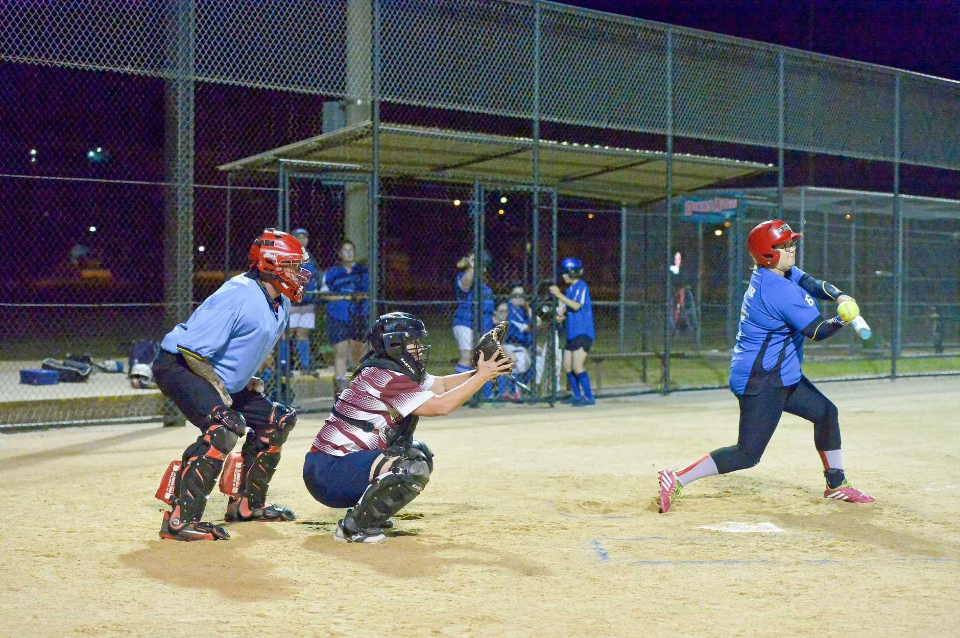 Gladstone softball grand final  Telfords vs Souths Blue.